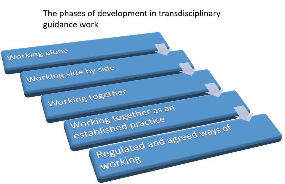 Figure 1. The phases in development in transdisciplinary collaboration.